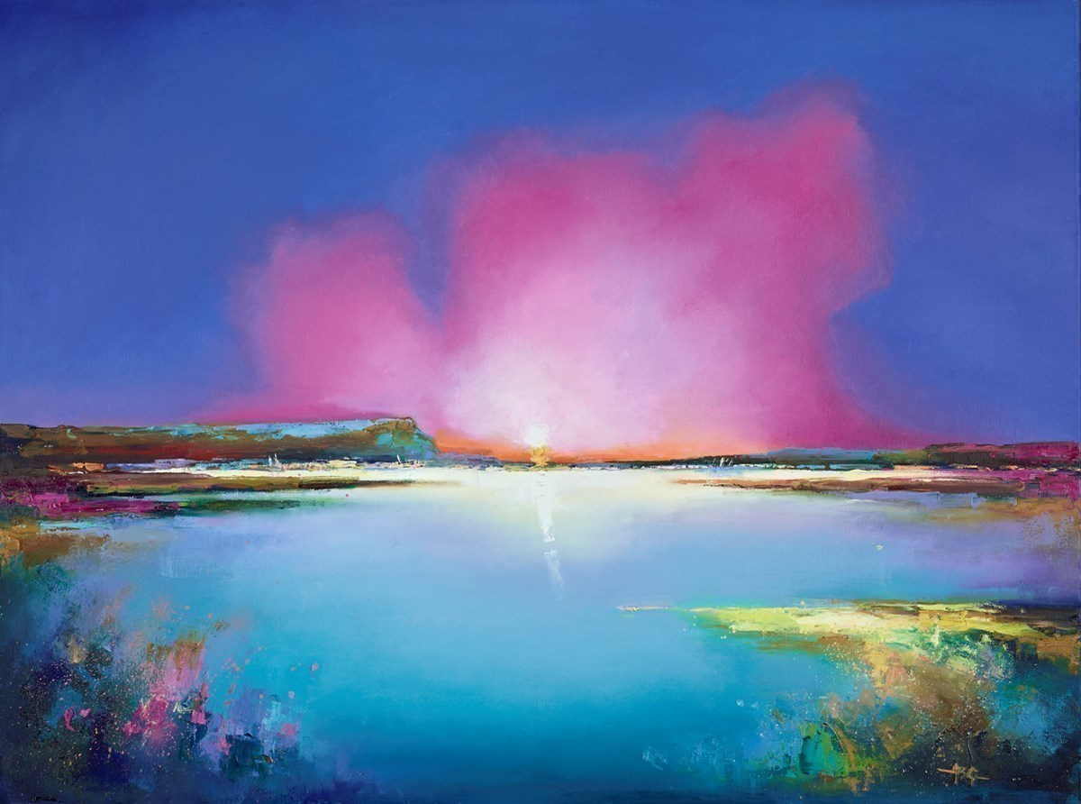 At Sunset I by Anna Gammans -  sized 40x30 inches. Available from Whitewall Galleries